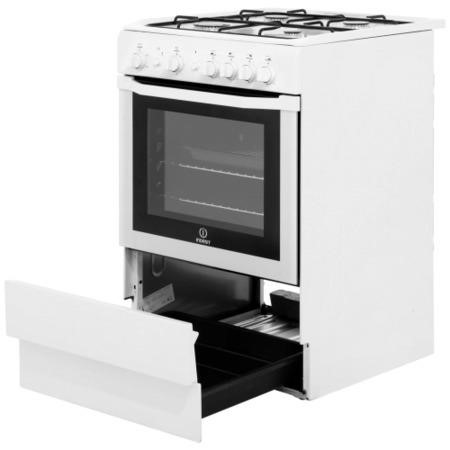 Indesit I6GG1W 60cm Gas Cooker with Single Oven - White
