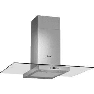 Neff I89EH52N0B Stainless Steel 90cm Chimney Cooker Hood With Flat Glass Canopy