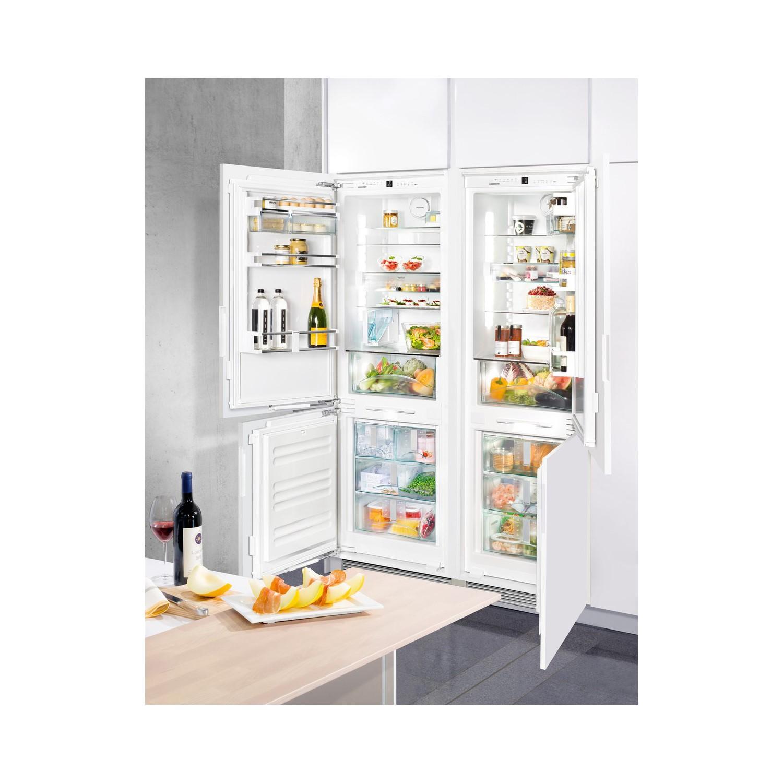 Liebherr Icn3386 Biocool Nofrost 60 40 Integrated Fridge Freezer With Soft Closing Doors And Non Plumbed Ice Maker Door On Door Appliances Direct