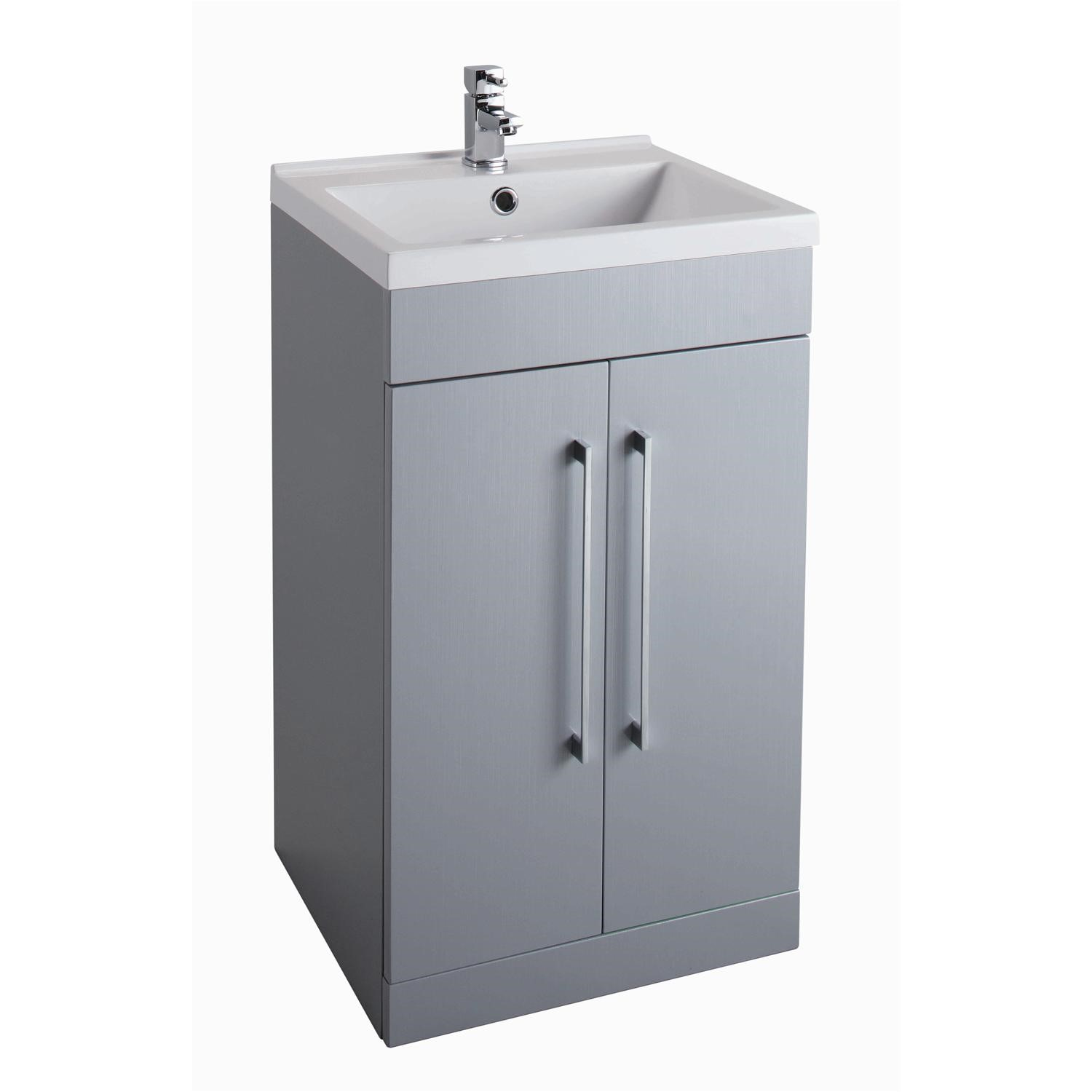 finest selection d799f 0c21d Grey Free Standing Bathroom Vanity Unit - Without Basin - W500 x H820mm