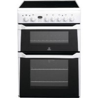 Indesit ID60C2WS 60cm Double Oven Electric Cooker With Ceramic Hob - White Best Price, Cheapest Prices
