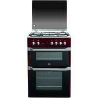 Indesit ID60G2R 60cm Double Oven Gas Cooker Red