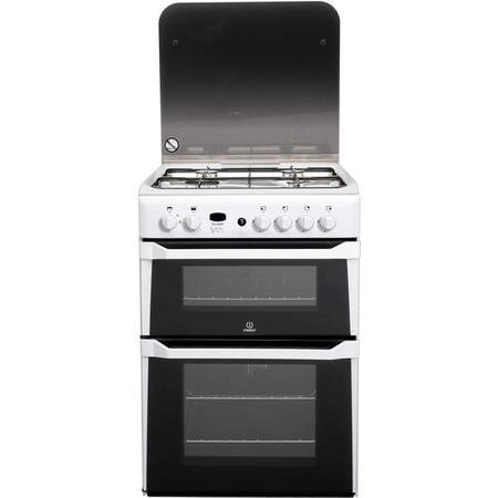 Indesit ID60G2W 60cm Double Oven Gas Cooker White