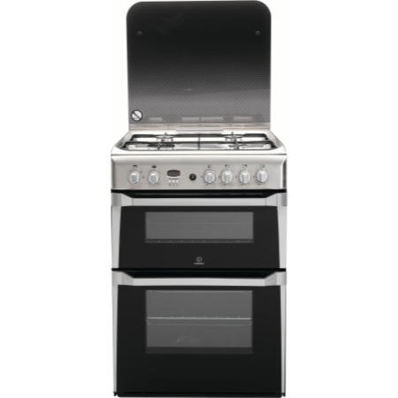Indesit ID60G2X 60cm Double Oven Gas Cooker Stainless Steel