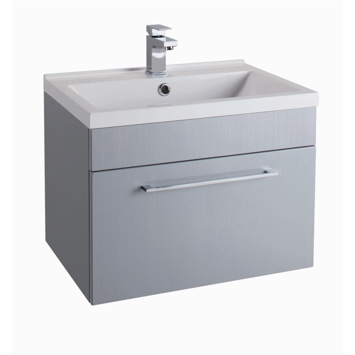grey wall hung bathroom vanity unit without basin. Black Bedroom Furniture Sets. Home Design Ideas
