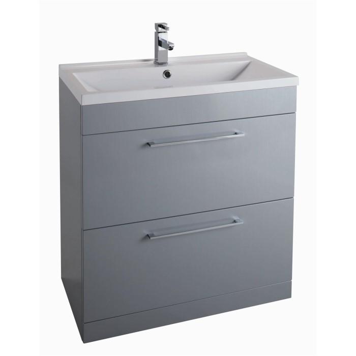 grey free standing bathroom vanity unit without basin. Black Bedroom Furniture Sets. Home Design Ideas