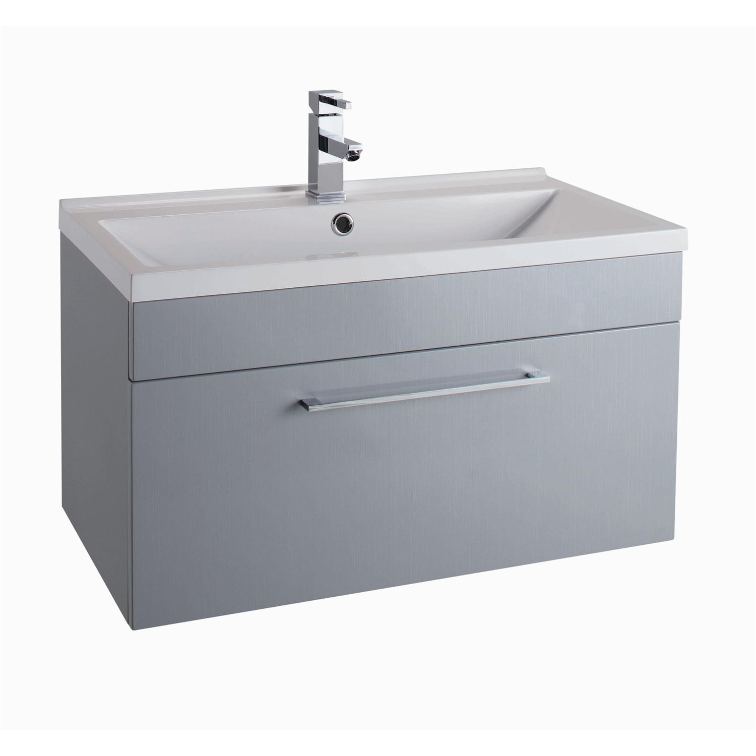 buy popular 843c1 5ec8d Grey Wall Hung Vanity Unit - Without Basin - 800mm Wide