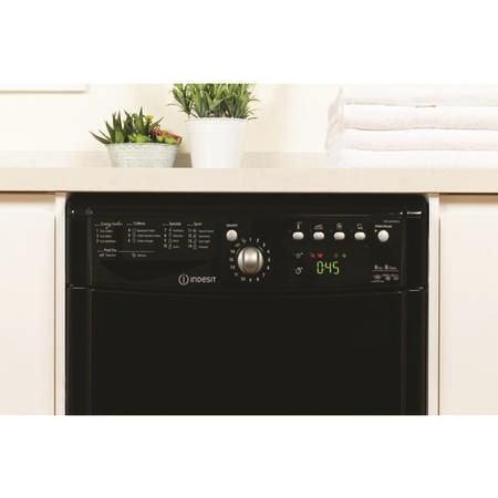 Indesit IDCE8450BKH 8kg Freestanding Condenser Tumble Dryer - Black