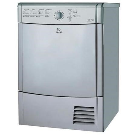 Indesit IDCL85BHS EcoTime 8kg Freestanding Sensor Condenser Tumble Dryer-Silver