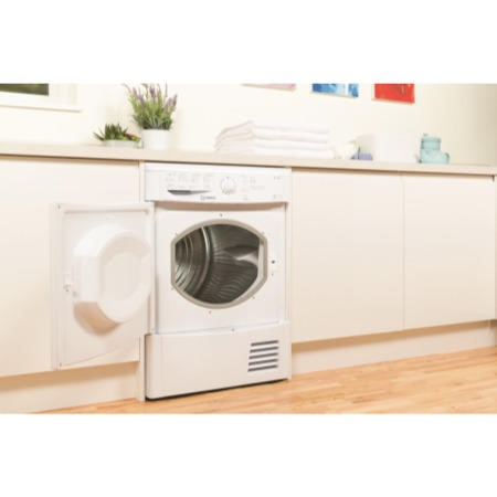 Indesit IDCL85BH EcoTime 8kg Freestanding Sensor Condenser Tumble Dryer White