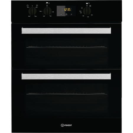 Indesit IDU6340BL Aria Electric Built Under Double Oven - Black