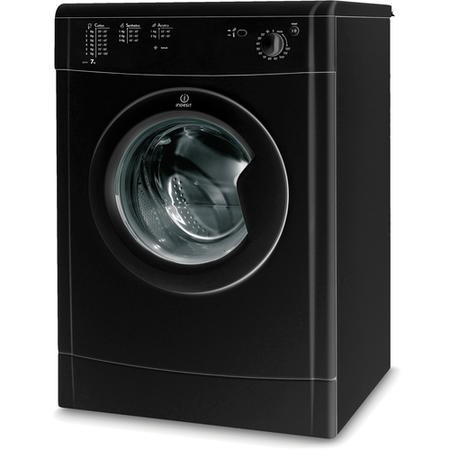 Indesit IDV75BK 7kg Freestanding Vented Tumble Dryer - Black