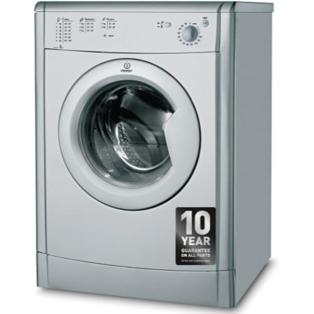 Indesit IDV75S EcoTime 7kg Freestanding Vented Tumble Dryer - Silver