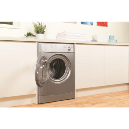 GRADE A1 - Indesit IDV75S 7kg Freestanding Vented Tumble Dryer - Silver
