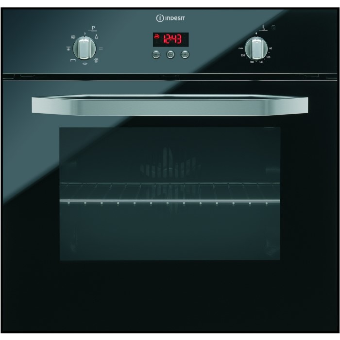 Indesit IFG63KANR Electric Multifunction Single Oven - Black ...