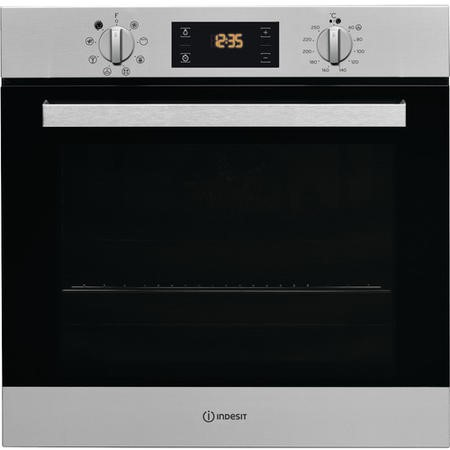INDESIT IFW6340IXUK Multifunction Built-in Electric Single Oven - Stainless Steel