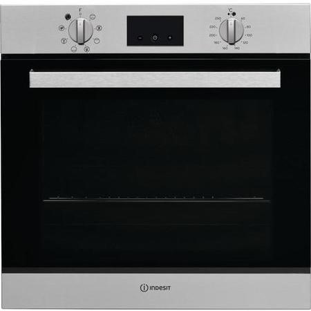 Indesit IFW65Y0IX 66L Multifunction Built-in Electric Single Oven - Stainess Steel