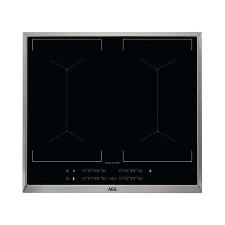 AEG IKE64450XB MaxiSense 60cm Touch Control Four Zone Induction Hob - Stainless Steel Frame