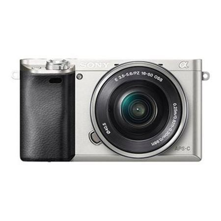 Sony ILCE-6000 Alpha A6000 24.3MP 3.0LCD FHD CSC Camera Silver Inc 16-50mm Lens