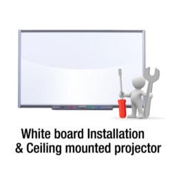 Installation of white board and Ceiling mounted projector