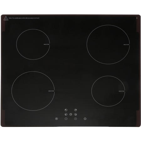 Montpellier INT61T15 59cm Touch Control Four Zone Induction Hob - Black