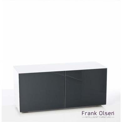 Frank Olsen Medium white cabinet with grey doors