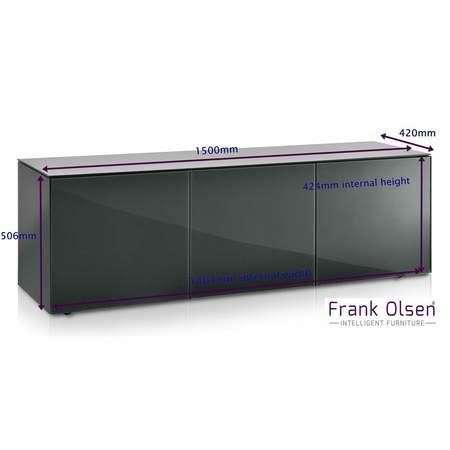 Frank Olsen INTEL1500GRY-OAK Large grey cabinet with oak doors