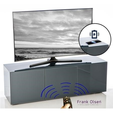 "Frank Olsen INTEL1500GY Grey TV Cabinet for up to 70"" TVs"