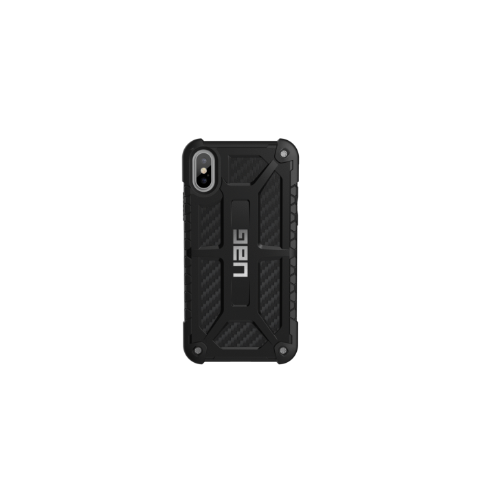 16ad4c3a43d UAG iPhone X 5.8 Screen Monarch Case - Carbon Fibre/Silver Logo IPHX-M-X