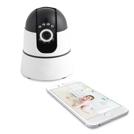 electriQ HD 720p Wifi Baby Monitoring Pan Tilt Zoom Camera with 2-way Audio & dedicated App