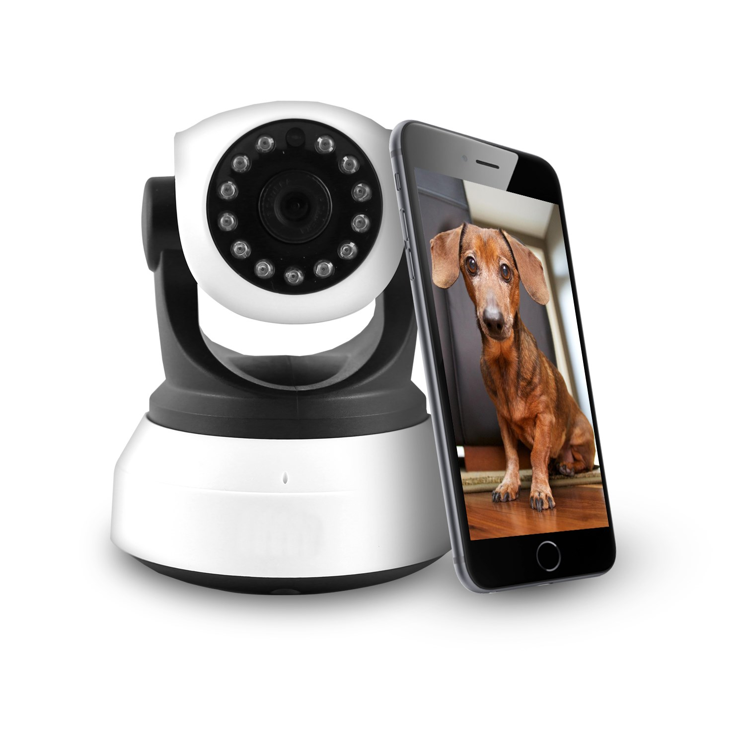 Electriq Hd 720p Wifi Pet Monitoring Pan Tilt Zoom Camera