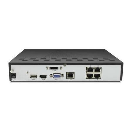 electriQ 4 Channel POE 1080P/720P IP Network Video Recorder with 2TB Hard Drive