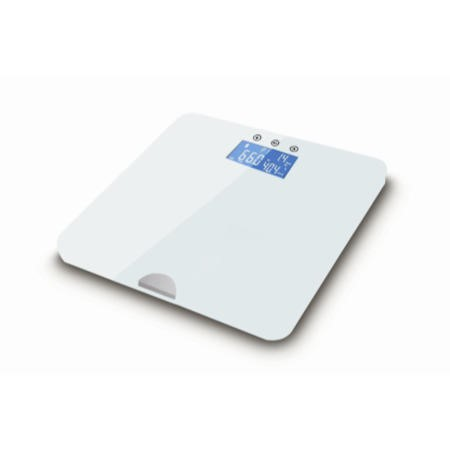 ElectriQ Bluetooth Smart Body Scale with Specialised ITO Glass and FREE iOS & Android app - White