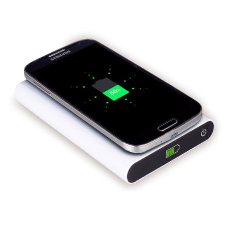 7000mAh Power Bank With Qi Wireless Charging Pad 2in1