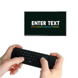 electriQ 3-in-1 Magic Remote with Air Mouse Wireless Keyboard and Voice Input for Smart TV Android Box PC Mac HTPC