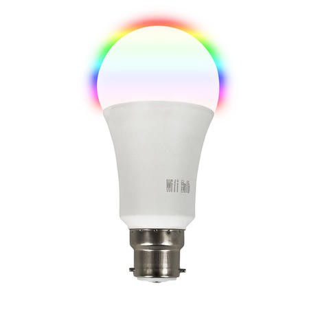 electriQ Smart Lighting dimmable colour Wifi Bulb with B22 bayonet ending - Alexa & Google Home compatible