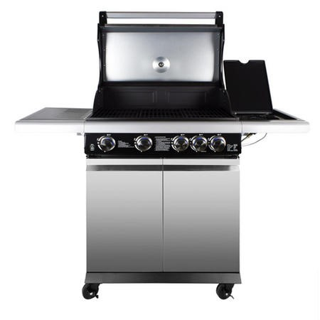 The Louisiana Elite 4 Burner Gas BBQ in Stainless Steel - Includes BBQ Cover and Utensil Set