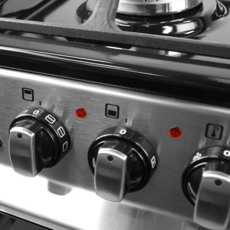 GRADE A1 - iQ 60cm Double Oven Dual Fuel Cooker - Stainless Steel