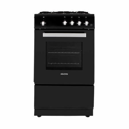 electriQ 50cm Gas Cooker with Single Oven in Black