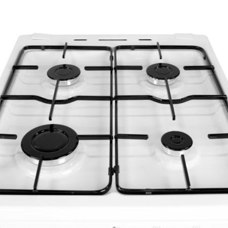iQ 50cm Gas Cooker with Single Oven in White