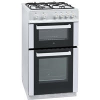iQ 50cm Gas Twin Cavity Cooker - White