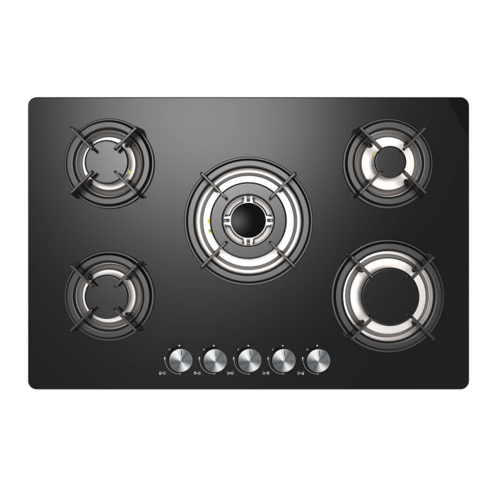 Black Glass Or Stainless Steel Hob