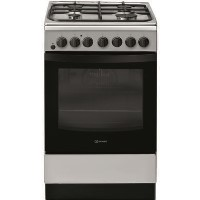 Indesit IS5G4PHX 50cm Single Oven Dual Fuel Cooker - Stainless Steel