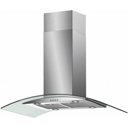 baumatic isl5ss 90cm island cooker hood with curved glass. Black Bedroom Furniture Sets. Home Design Ideas