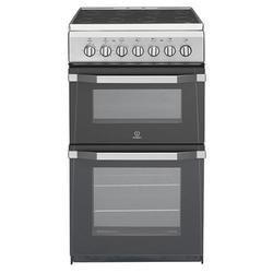 GRADE A1 - Indesit IT50C1S 50cm Double Cavity Electric Cooker Silver