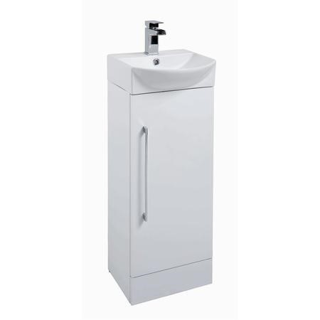 Traditional Ivory White Mini Cloakroom Basin Unit - Includes Basin - 400mm Wide
