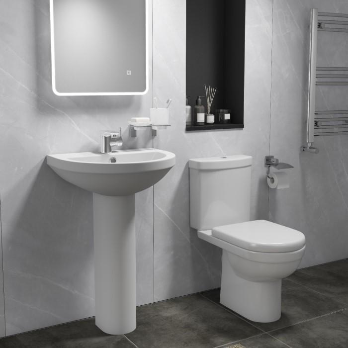 Toilet & Basin Bathroom Suite IVOK001 | Appliances Direct