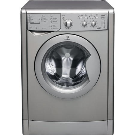 INDESIT IWDC6125S EcoTime 6kg Wash 5kg Dry 1200rpm Freestanding Washer Dryer - Silver