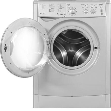Indesit IWDC6125S 6kg Wash 5kg Dry 1200rpm  Freestanding Washer Dryer - Silver