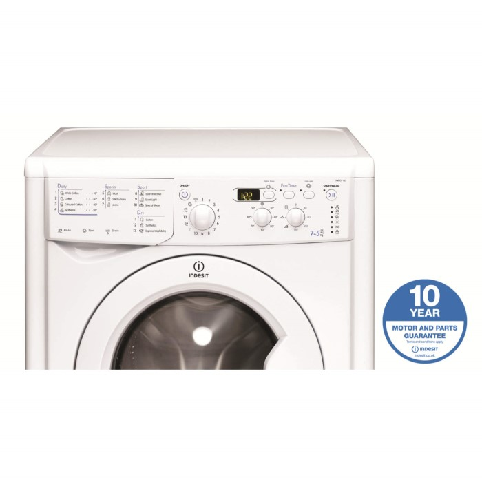 indesit iwdd7123 7kg wash 5kg dry 1200rpm standing washer dryer indesit iwdd7123 7kg wash 5kg dry 1200rpm standing washer dryer white